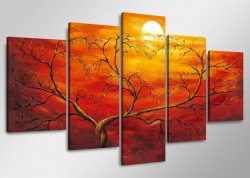 Canvas tavla 160x80 cm, 5-set, 5506