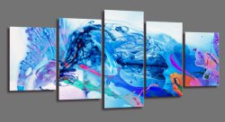 Canvas tavla 200x100 cm, 5-set, 6342