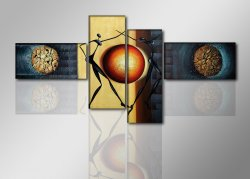Canvas tavla 195x80 cm, 4-set, 6807