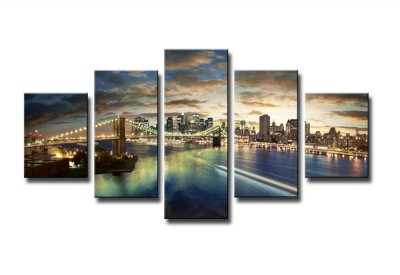 Canvas tavla 160x80 cm, 5-set, 5562