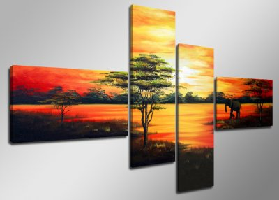 Canvas tavla 160x70, 4-set, 6504