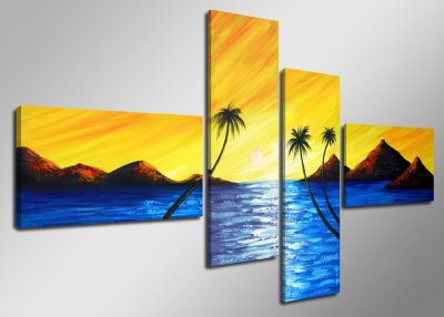 Canvas tavla 160x70, 4-set, 6507